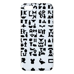 Anchor Puzzle Booklet Pages All Black iPhone 5S/ SE Premium Hardshell Case