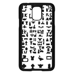 Anchor Puzzle Booklet Pages All Black Samsung Galaxy S5 Case (Black)