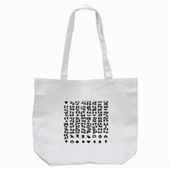 Anchor Puzzle Booklet Pages All Black Tote Bag (White)