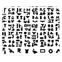 Anchor Puzzle Booklet Pages All Black Double Sided Flano Blanket (Small)