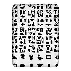 Anchor Puzzle Booklet Pages All Black Samsung Galaxy Tab 4 (10 1 ) Hardshell Case