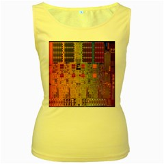 Circuit Board Pattern Lynnfield Die Women s Yellow Tank Top