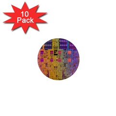 Circuit Board Pattern Lynnfield Die 1  Mini Magnet (10 Pack)