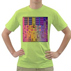 Circuit Board Pattern Lynnfield Die Green T-Shirt
