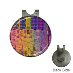 Circuit Board Pattern Lynnfield Die Hat Clips with Golf Markers