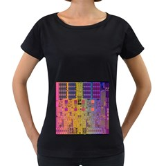 Circuit Board Pattern Lynnfield Die Women s Loose Fit T Shirt (black)