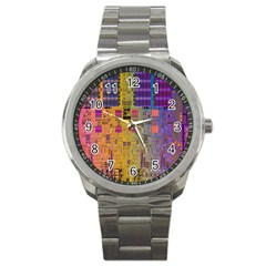 Circuit Board Pattern Lynnfield Die Sport Metal Watch