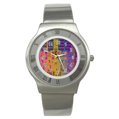 Circuit Board Pattern Lynnfield Die Stainless Steel Watch