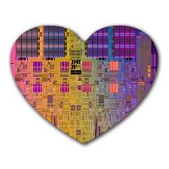 Circuit Board Pattern Lynnfield Die Heart Mousepads
