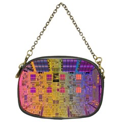 Circuit Board Pattern Lynnfield Die Chain Purses (Two Sides)