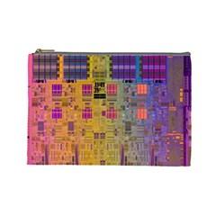 Circuit Board Pattern Lynnfield Die Cosmetic Bag (Large)