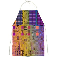 Circuit Board Pattern Lynnfield Die Full Print Aprons