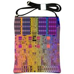 Circuit Board Pattern Lynnfield Die Shoulder Sling Bags