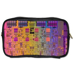 Circuit Board Pattern Lynnfield Die Toiletries Bags