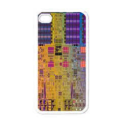 Circuit Board Pattern Lynnfield Die Apple iPhone 4 Case (White)