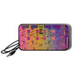 Circuit Board Pattern Lynnfield Die Portable Speaker (Black)