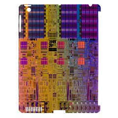 Circuit Board Pattern Lynnfield Die Apple iPad 3/4 Hardshell Case (Compatible with Smart Cover)