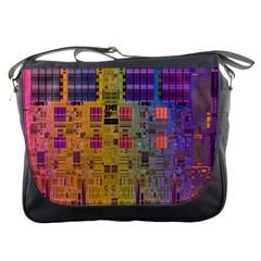 Circuit Board Pattern Lynnfield Die Messenger Bags