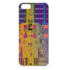 Circuit Board Pattern Lynnfield Die Apple Iphone 5 Seamless Case (white)