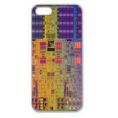 Circuit Board Pattern Lynnfield Die Apple Seamless iPhone 5 Case (Clear)