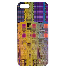Circuit Board Pattern Lynnfield Die Apple iPhone 5 Hardshell Case with Stand