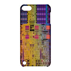 Circuit Board Pattern Lynnfield Die Apple iPod Touch 5 Hardshell Case with Stand
