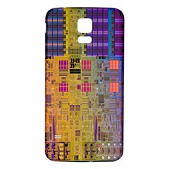 Circuit Board Pattern Lynnfield Die Samsung Galaxy S5 Back Case (white)