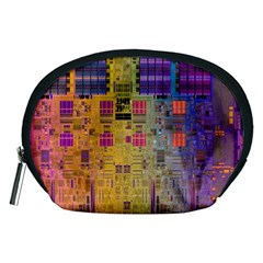 Circuit Board Pattern Lynnfield Die Accessory Pouches (Medium)