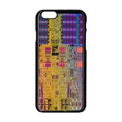 Circuit Board Pattern Lynnfield Die Apple iPhone 6/6S Black Enamel Case