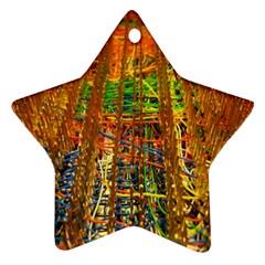 Circuit Board Pattern Ornament (star)