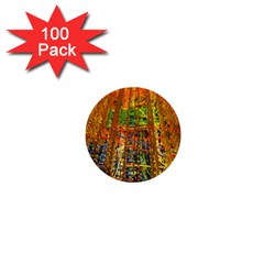 Circuit Board Pattern 1  Mini Buttons (100 Pack)