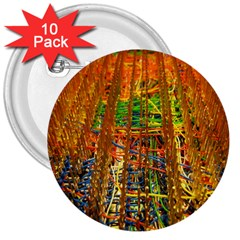 Circuit Board Pattern 3  Buttons (10 Pack)