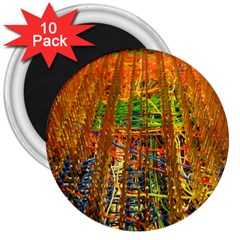 Circuit Board Pattern 3  Magnets (10 Pack)