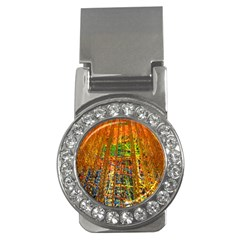 Circuit Board Pattern Money Clips (CZ)