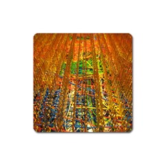 Circuit Board Pattern Square Magnet