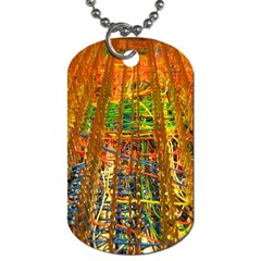 Circuit Board Pattern Dog Tag (One Side)