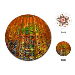 Circuit Board Pattern Playing Cards (Round)