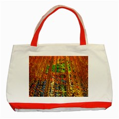 Circuit Board Pattern Classic Tote Bag (Red)