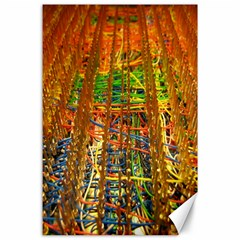 Circuit Board Pattern Canvas 24  X 36
