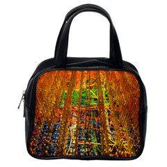 Circuit Board Pattern Classic Handbags (one Side)