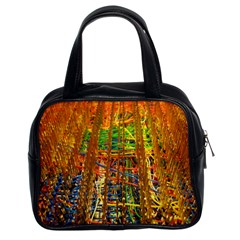 Circuit Board Pattern Classic Handbags (2 Sides)