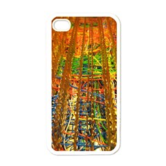 Circuit Board Pattern Apple iPhone 4 Case (White)