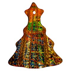 Circuit Board Pattern Christmas Tree Ornament (Two Sides)