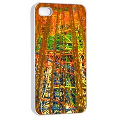 Circuit Board Pattern Apple iPhone 4/4s Seamless Case (White)