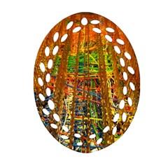 Circuit Board Pattern Ornament (Oval Filigree)