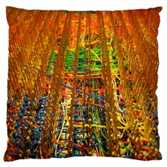Circuit Board Pattern Large Cushion Case (Two Sides)