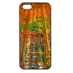 Circuit Board Pattern Apple iPhone 5 Seamless Case (Black)