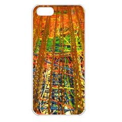Circuit Board Pattern Apple iPhone 5 Seamless Case (White)