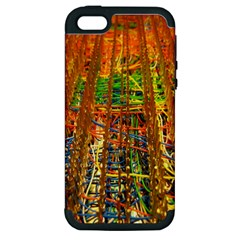 Circuit Board Pattern Apple iPhone 5 Hardshell Case (PC+Silicone)