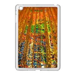 Circuit Board Pattern Apple iPad Mini Case (White)